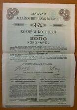 Magyar Jelzalog-Hitelbank - Hungary - Budapest - 2000 - 4,5% - 1911 - Serie II