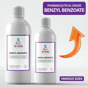 Benzyl Benzoate PURE UNDILUTED for Mites, Lice, Sweet Itch Pharmaceutical Grade
