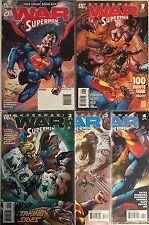 Set of 5: War of the Supermen # 0 - 1 - 2 - 3 - 4 DC Comics 2010 VF #