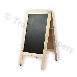 Wooden A-frame/Sandwich Chalkboard Advertising Display Black Chalk Board Stand