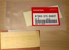 Honda CB CX GL XR XL gas tank  label sticker OEM