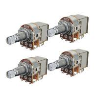 4PCS A500K B500K Push Pull Guitar Potentiometer Pot 18mm Long Split Shaft Switch