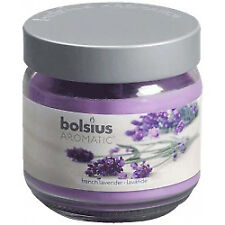 Bolsius 103625830377 Filled Glass Candle With Scent and Lid Lavender Large