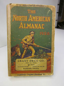 1928 The North American Almanac ~ The Aristocrat of Almanacs
