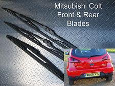 Front Rear Wiper Blades Mitsubishi Colt 2004 2005 2006 2007 2008 2009 2010 2011