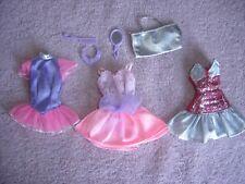 1990s Barbie Genuine Tag Lot Doll Clothes Dress Comb Mirror Silver Purse 7 Neckl