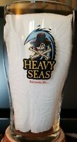 2 Different Heavy Seas Beer Pint Glasses Baltimore Brew,  Maryland Map, heavy!
