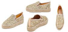 Charles David Espadrille Shoes Sancha Glitter Espadrille Flats Gold 9M