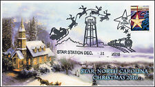 16-389, 2016, Star Station, Star NC, Pictorial Cancel, Christmas