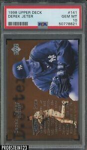 1998 Upper Deck UD #141 Derek Jeter New York Yankees HOF PSA 10 GEM MINT