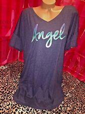 Victorias Secret Cotton Sleepshirt Nightie Blue Angel Ombre Small