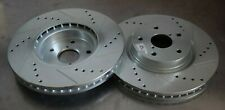 For Subaru WRX 15-19 Brake Rotors Power Stop Performance Drilled & Slotted