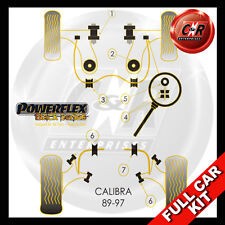 Vauxhall Calibra (89-97) Powerflex Black Complete Bush Kit Rear Geometry Adjust