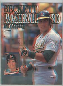 1984-Now Beckett Baseball Jose Canseco July 1988 (3-D cover) #40.1