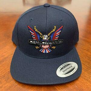 Diplomats Dipset Camron Yupoong Snapback Hat Harlem World Navy Cap
