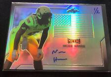 Najee Harris 2017 Leaf U.S. Army All American Silver Flag Auto #d 1/2 Autograph