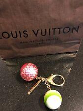 Louis Vuitton Bijoux Sac Mini Lin Bag Charm Keychain