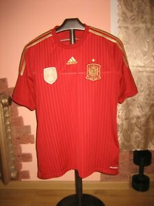 SPAIN Football National Team Adidas Home 2013/15 Jersey/Shirt size L