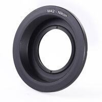 M42 Screw Mount Lens to Nikon D810 D750 D7200 D3300 D5500 D5400 Adapter w/ Glass
