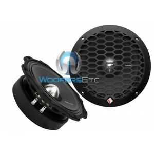 """(2) ROCKFORD FOSGATE PPS4-6 PUNCH 6.5"""" CAR AUDIO 4-OHM MID-BASS SPEAKERS PAIR"""