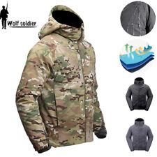 Waterproof Jacket Mens Winter Tactical Military Resistant Combat Outdoor Hooded