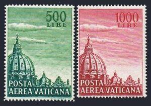 Vatican C33-C34a,hinged.Michel 280YA-281YB. Dome of St Peter's Basilica.1958.