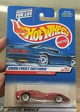 2000 Hot Wheels #70 First Edition Thomassima 3 Lace wheels