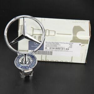 Chrome Front Hood Ornament Emblem for Mercedes Benz 300E C E S W Series USA SHIP