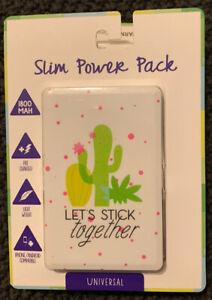 Vivitar Universal Slim Power Bank Let's Stick Together Phone Charger 1800mah