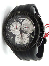 SWISS LEGEND EVOLUTION 10064-BB-01 BLACK WHITE DIAL CHRONOGRAPH WATCH FOR MEN