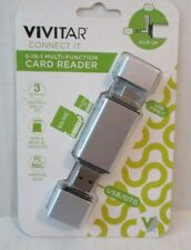 Vivitar Connect IT 5 In 1 Multi-Function Card Reader Plug & Play SD/HC Micro SD