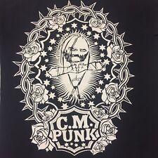 CM Punk Small Black 2-sided T-shirt Wrestling WWE WWF SES Straight Edge Society