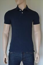 NEW Abercrombie & Fitch Beaver Mountain Polo Shirt Navy Blue Moose S RRP £72