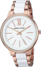 Anne Klein Women's Quartz Rose Gold Tone/White Resin Watch AK/1412WTRG