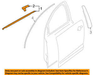GM OEM-Door Window Sweep-Belt Molding Weatherstrip Right 92277514
