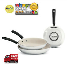 Tramontina 3-Pack Ceramic-Reinforced Nonstick Fry Pans Kitchen WHITE