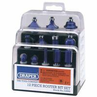 """Draper 1/4"""" TCT Router Bit Set 12 Piece 72892"""