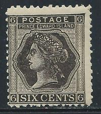 P.E.I. #15(3)1872 6 cent black QUEEN VICTORIA Perf 12 MNH CV$10.00