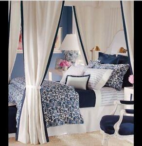 NIP Ralph Lauren Dorsey Lotus Blossom Blue/White Full/Queen Comforter
