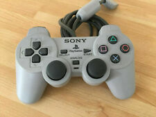 Official Sony PlayStation 1 DualShock Analog Controller - SCPH-1200 - Grey VGC