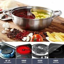 30cm Stainless Steel Hot Pot Twin Divided Cookware Induction Little Sheep