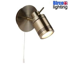 Searchlight 6601AB LED Antique Brass Bathroom Switched Wall Spot Light IP44