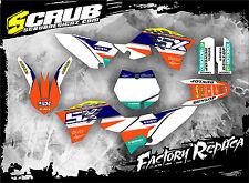 SCRUB KTM SX 65 2009-2015 '09 - '15 Grafik Sticker Dekor-Set