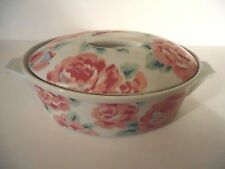 Lynn Hollyn Floral Pink Rose Covered Casserole Dish The Tuscany Collection