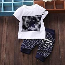 2pcs Infantil Bebé Niño Niña Camiseta Algodón Suéter + Pantalones Disfraz Ropa