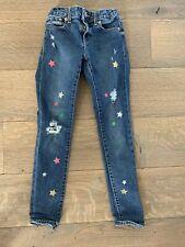 Gap Girls Star Distressed Jeans Size 8 Super Skinny Stretch