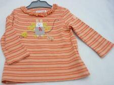 Compagnie des Petits tee-shirt manche longue orange motif lapin bébé fille 6mois