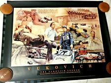 Indianapolis Indy 500 Vintage THE VUKOVICH LEGEND Commemorative Poster NEW