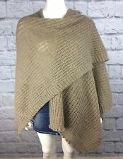 FRATELLI TALLI Womens OS Mohair Wool Wrap Shawl Taupe Made in Italy
