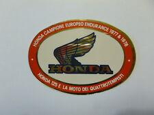 VECCHIO ADESIVO MOTO ORIGINALE /Old Sticker HONDA CAMPIONE 1977-1978 (cm 10 x 7)
